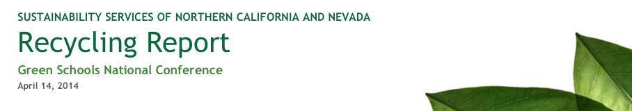 GSNC2014 Recycle Report