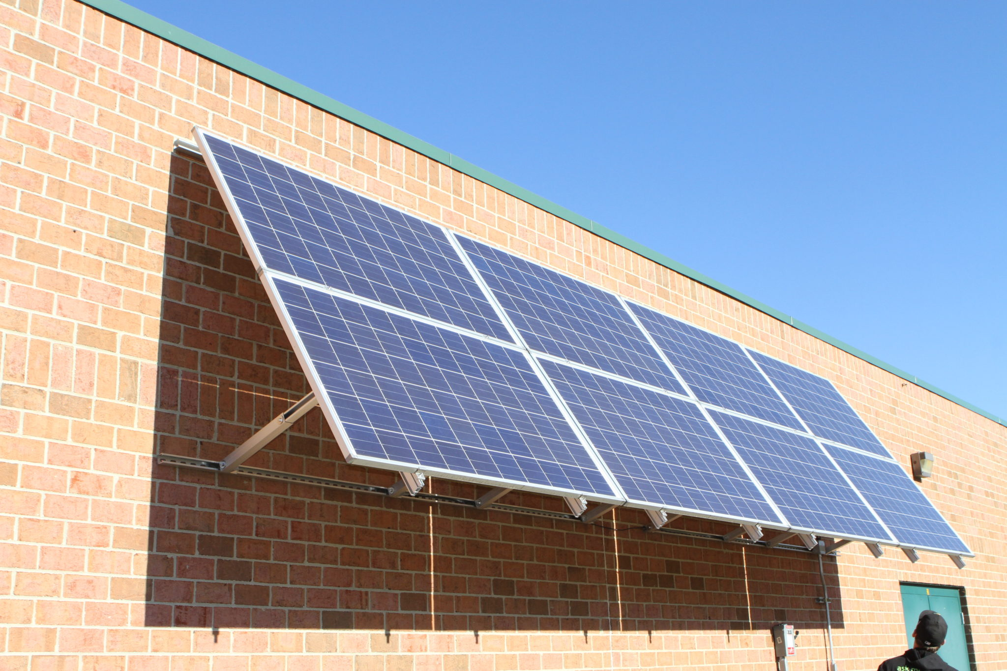 8kW awning system installed on the side of a school in West Virginia Photo Courtesy of Roxie Brown