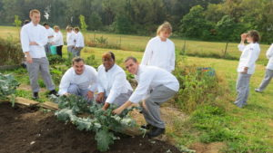 Northampton Community College culinary students practices farm-to-table cooking strategies